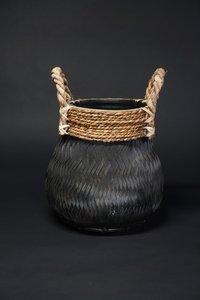 Basket bamboo black S D H  CM