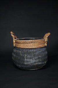 Basket bamboo black M D H  CM