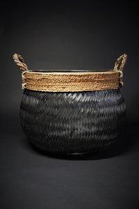 Basket bamboo black D58 H40  CM