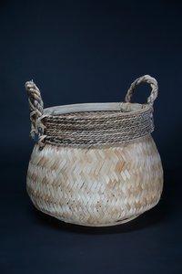 Basket bamboo blond M D H  CM