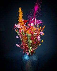 Droogboeket Oranje-Hard roze